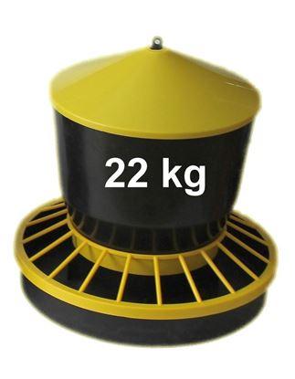 Obrázok pre výrobcu Kŕmidlo, zásobník na krmivo 22 kg