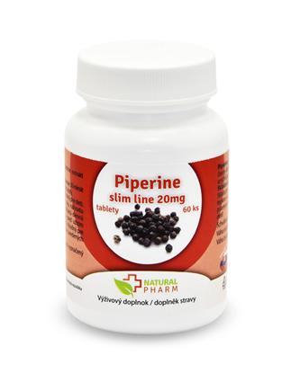 Obrázok pre výrobcu Piperine slim line 20 mg tablety 60 ks AKCIA! Exp. 07/2018