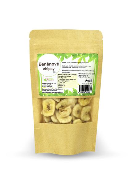 Obrázok Banánové chipsy 100 g