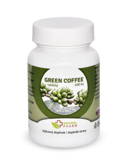 Obrázok Green Coffee /Zelená káva/ tablety 100 ks