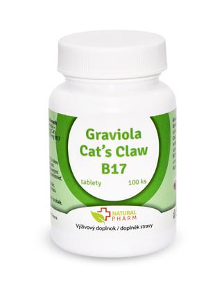 Obrázok pre výrobcu Graviola + Cat´s Claw /Mačací pazúr/ + B17 35 mg tablety 100 ks