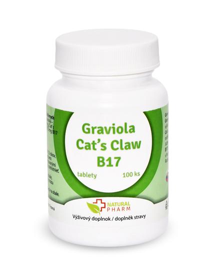 Obrázok Graviola + Cat´s Claw /Mačací pazúr/ + B17 35 mg tablety 100 ks