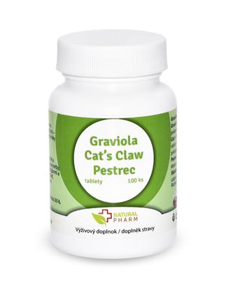 Obrázok pre výrobcu Graviola + Cat´s Claw /Mačací pazúr/ + Pestrec 70 mg  tablety 100 ks