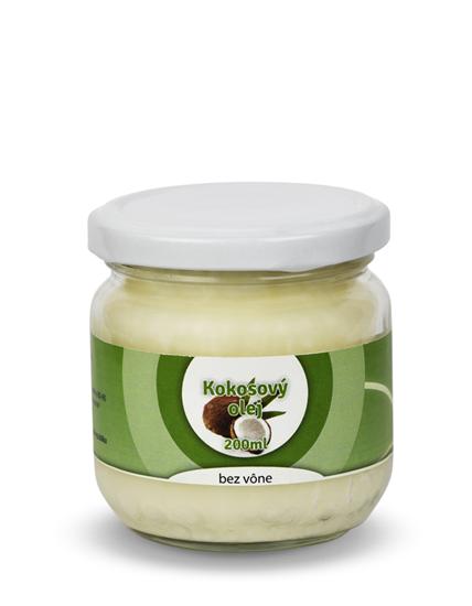 Obrázok Kokosový olej bez vône 200 ml