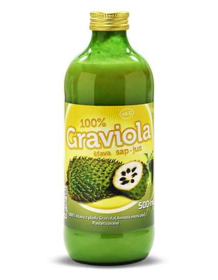 Obrázok Graviola (annona muricata) 100% šťava 500 ml Expirácia 31.05.2019!!