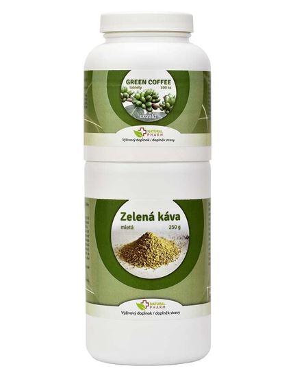Obrázok Green Coffee /Zelená káva/ tablety 100 ks + Zelená káva mletá 250 g
