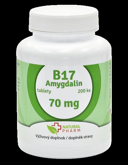Obrázok Amygdalin B17 70 mg tablety 200 ks
