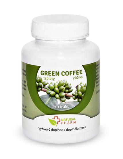 Obrázok Green Coffee /Zelená káva/ tablety 200 ks