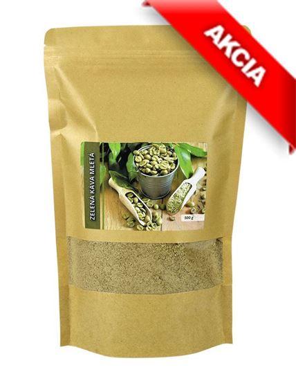 Zelená káva mletá 500 g nový obal