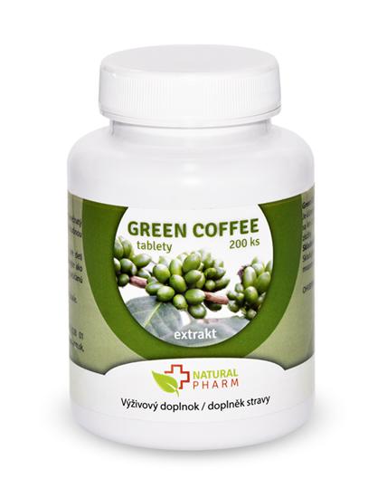Obrázok Green Coffee /Zelená káva/ tablety 200 ks AKCIA! Exp. 10/2018