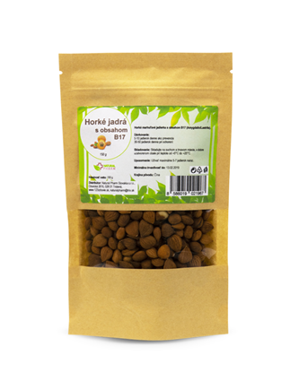 Obrázok pre výrobcu Horké marhuľové jadierka s obsahom B17 (Amygdalín/Laetrile) 150 g