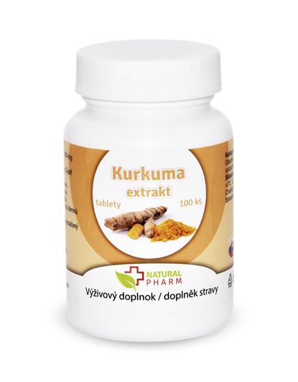 Obrázok Kurkuma extrakt tablety 100 ks  Expirácia 10/2018