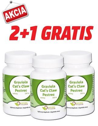 Obrázok pre výrobcu AKCIA 2+1: Graviola + Cat´s Claw /Mačací pazúr/ + Pestrec tablety 100 ks