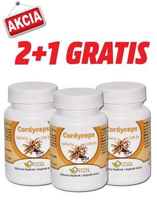 Obrázok pre výrobcu AKCIA 2+1: Cordyceps tablety 100 ks