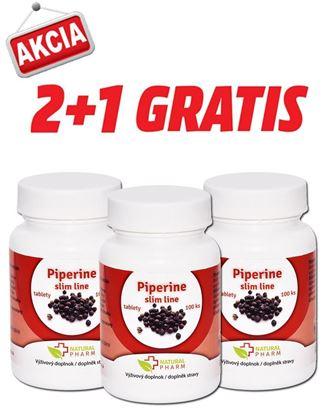 Obrázok pre výrobcu AKCIA 2+1: Piperine slim line 10 mg tablety 100 ks