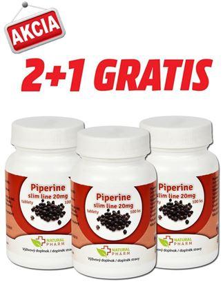 Obrázok pre výrobcu AKCIA 2+1: Piperine slim line 20 mg tablety 100 ks