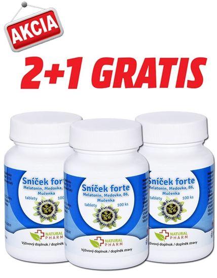 Obrázok AKCIA 2+1: Sníček FORTE tablety 100 ks