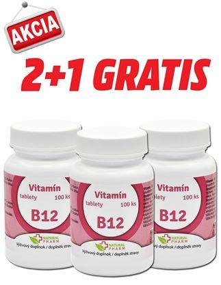 Obrázok pre výrobcu AKCIA 2+1: Vitamín B12 tablety 100 ks
