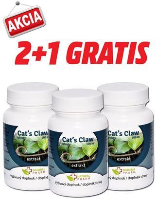 Obrázok pre výrobcu AKCIA 2+1: Cat´s Claw /Mačací pazúr/ tablety 100 ks
