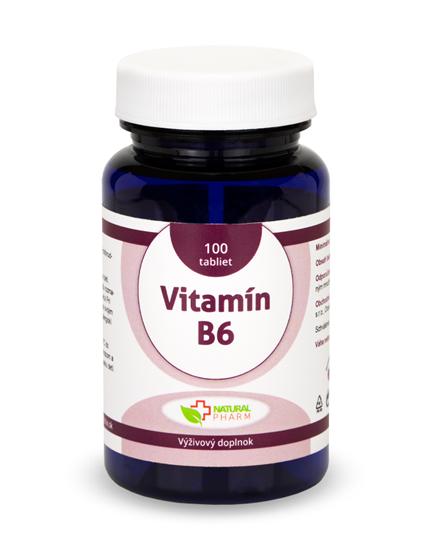 Obrázok Vitamín B6 tablety 100ks  NOVINKA!