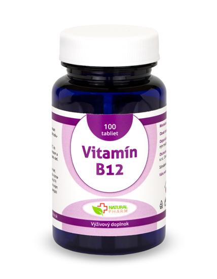 Obrázok Vitamín B12 tablety 100 ks NOVINKA!