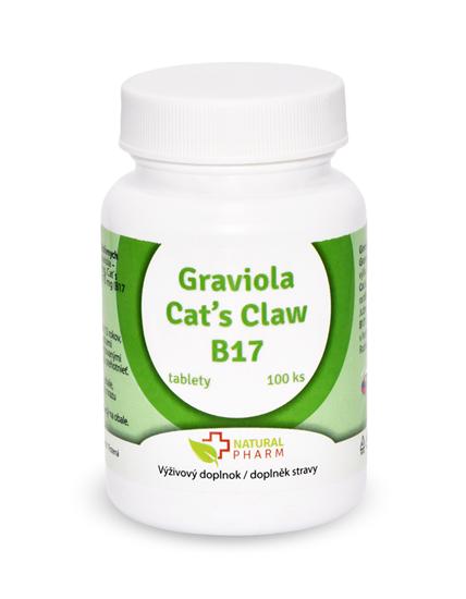 Obrázok Graviola + Cat´s Claw /Mačací pazúr/ + B17 70 mg tablety 100 ks