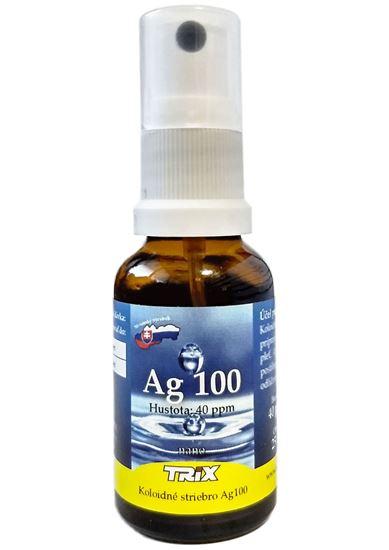 Obrázok Koloidné striebro Ag100  25 ml 40 ppm sprej