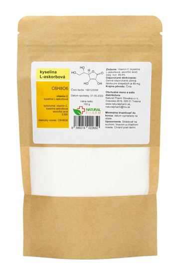 Obrázok Vitamín C (kyselina L-askorbová) prášok 150 g