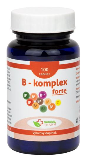 Obrázok B - komplex forte tablety 100 ks