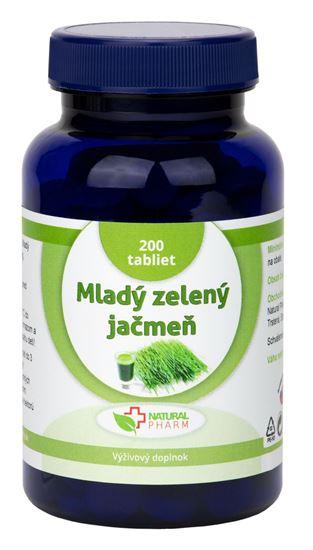 Obrázok Mladý zelený jačmeň tablety 200 ks