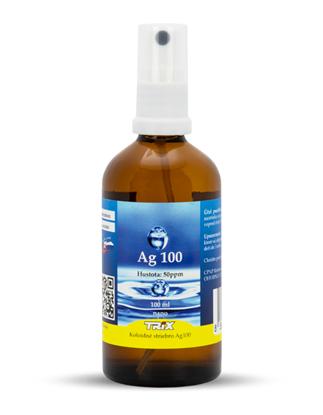 Obrázok pre výrobcu Koloidné striebro Ag100 100 ml 50 ppm sprej