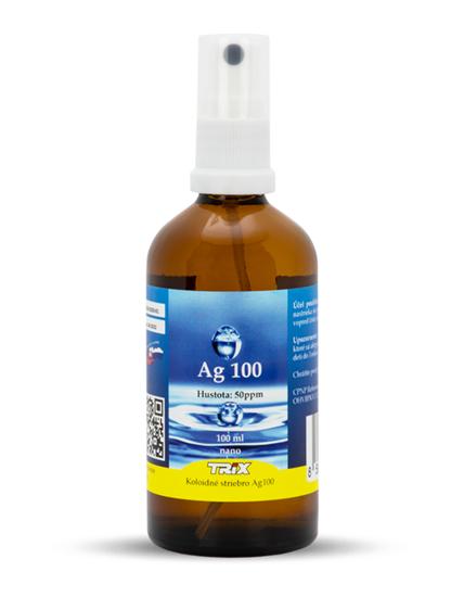 Obrázok Koloidné striebro Ag100 100 ml 50 ppm sprej