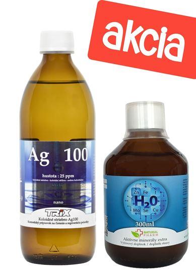 Obrázok Aktívne minerály 300 ml + Koloidné striebro 500 ml 25 ppm