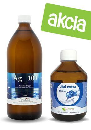 Obrázok pre výrobcu Koloidné striebro 1000 ml 25 ppm + Jód Extra 300 ml