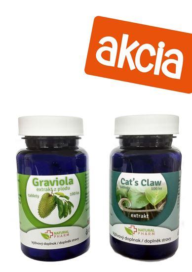 Obrázok Graviola (Annona Muricata) tablety 100 ks + Cat´s claw tablety 100 ks