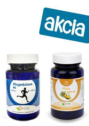 Obrázok pre výrobcu Magnézium + B6 tablety 100 ks + Maca 25:1 tablety 100 ks