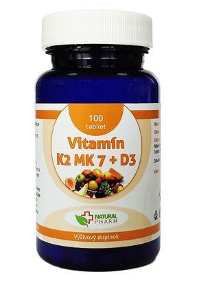 Obrázok pre výrobcu Vitamín K2 MK-7 + D3 tablety 100 ks  AKCIA!