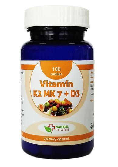 Obrázok Vitamín K2 MK-7 + D3 tablety 100 ks  AKCIA!