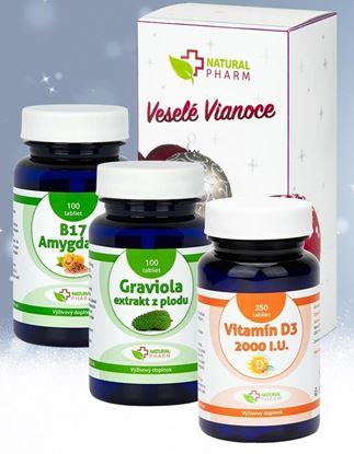 Obrázok pre výrobcu Onkologický balíček 1 - Graviola,  Vitamin B17, Darček Vitamín D3