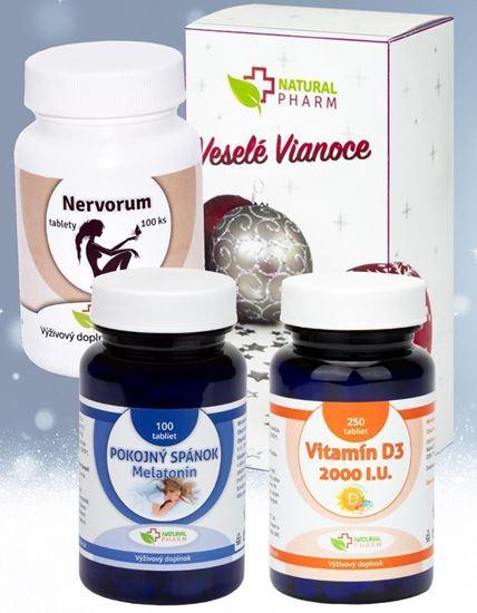 Obrázok Zdravý a pokojný spánok - Pokojný spánok + Nervorum + Vitamín D3
