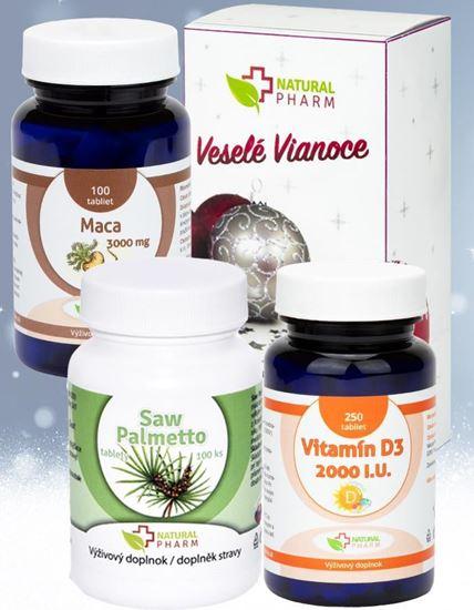 Obrázok Pre zdravie muža - Saw Palmetto, Maca + Darček Vitamín D3