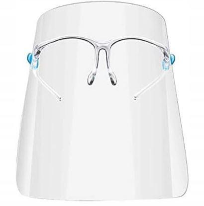 Obrázok pre výrobcu Ochranný štít na tvár s okuliarmi