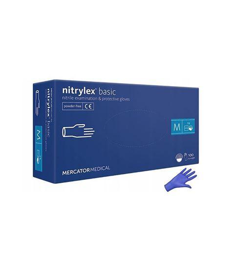 Obrázok Nitrilové rukavice 100ks veľkosť M