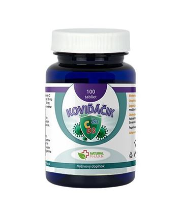 Obrázok pre výrobcu Koviďáčik tablety 100 ks (Vitamín C, Zinok, D3 2000 I.U.)