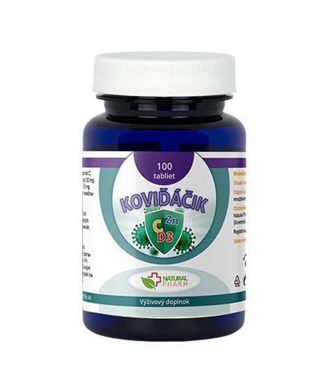 Obrázok Koviďáčik tablety 100 ks (Vitamín C, Zinok, D3 2000 I.U.)