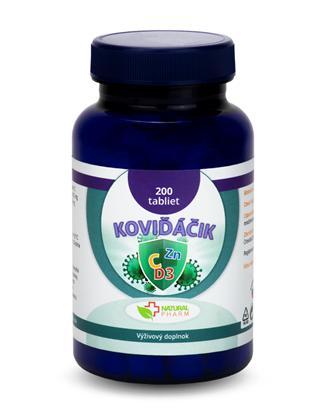 Obrázok pre výrobcu Koviďáčik tablety 200 ks (Vitamín C, Zinok, D3 2000 I.U.)