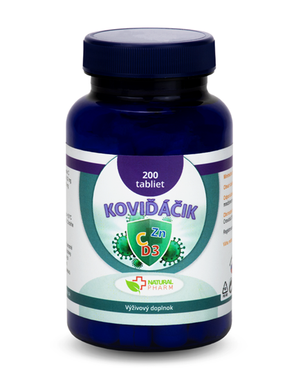 Obrázok Koviďáčik tablety 200 ks (Vitamín C, Zinok, D3 2000 I.U.)
