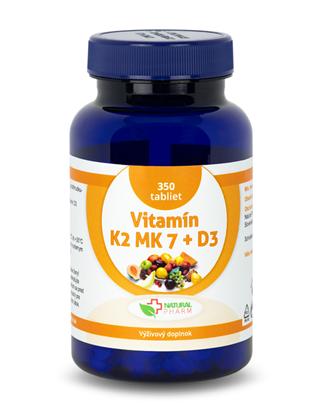 Obrázok pre výrobcu Vitamín K2 MK-7 + D3 tablety 350 ks  AKCIA!