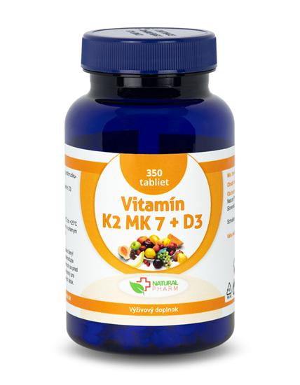 Obrázok Vitamín K2 MK-7 + D3 tablety 350 ks  AKCIA!