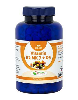 Obrázok pre výrobcu Vitamín K2 MK-7 + D3 tablety 850 ks  AKCIA!